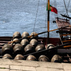 Details of the rabelo boat, a portuguese mountain vessel , typical of the Douro River that traditionally carried the casks of Port from Alto Douro, where the vineyards are located, to Vila Nova de Gaia - Porto, where the wine was stored and subsequently marketed.